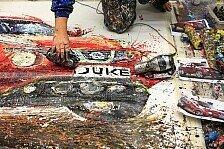 Auto - Die R�der der Autos sind meine Pinsel: Malen mit Autos: Der Nissan Juke als Kunstwerk