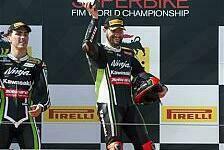Superbike - Baz zwei Mal Zweiter: Doppelsieg f�r Sykes und Kawasaki