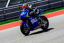 MotoGP - Elektronik macht lustige Ger�usche: Schwantz testet MotoGP-Suzuki