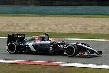 Formel 1 - Motorprobleme schon vor dem Start: Fr�hes Aus: Sutil kam nur auf 240 km/h