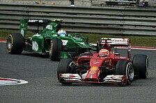 Formel 1 - Weg mit den kleinen Teams: Ecclestone fordert: Dritter Ferrari statt Caterham