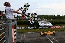 IndyCar - Montoya im Kiesbett: Hunter-Reay gewinnt verk�rztes Rennen in Alabama