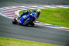 MotoGP - Nur 50 Runden in Rio Hondo: Suzuki-Test vom Regen eingebremst