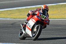 MotoGP - Schwierige Wetterverh�ltnisse zerst�ren das Training: Pirro im Regen vor Hayden und Bautista