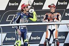 MotoGP - Ein tolles Rennen: Rossi: Wollte mir das Podest nicht nehmen lassen
