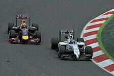 Formel 1 - Kampf um Platz zwei: Red Bull vor Williams gewarnt