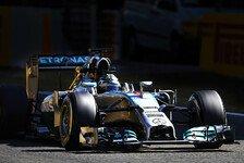 Formel 1 - Schw�chen im Fokus: Rosberg: �ben f�r den Angriff auf Hamilton