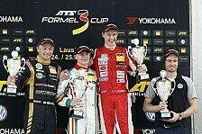 Formel 3 Cup - MacLeod feiert ersten Sieg: Lausitzring: Drei Rookies auf dem Podium