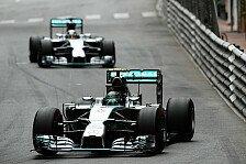 Formel 1 - Hamilton ein�ugig aufs Podium: Monaco GP: Rosberg gewinnt Mercedes-Duell