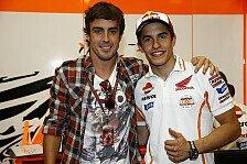 MotoGP - Bilder: Italien GP - Alonso besucht MotoGP-Teams