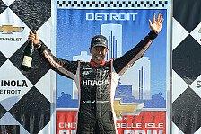 IndyCar - Power trotz Strafe Zweiter: Castroneves gewinnt zweites Rennen in Detroit