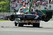 Formel 1 - Kein Licht am Ende des Tunnels: Sauber: Gutierrez crasht, Sutil klagt