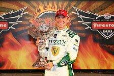 IndyCar - Montoya auf dem Podium: Ed Carpenter gewinnt Firestone 600