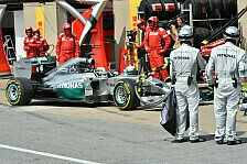 Formel 1 - Hinterherfahren als Ausfallgrund: Hamilton ruiniert Bremsen in Rosbergs Hitze