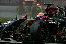Formel 1 - Kanada wird sich nicht wiederholen: Gastaldi: Lotus braucht die Big Points