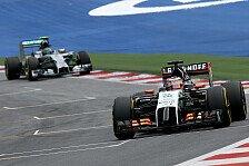 Formel 1 - Mit Konstanz in die Punkte: H�lkenberg: Im Schatten von Perez