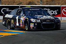 NASCAR - Patrick in Sonoma auf Startplatz elf: McMurray holt Road-Course-Pole