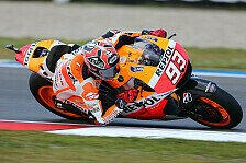 MotoGP - Schwierigkeiten bei k�hleren Bedingungen: Marquez und Pedrosa in Lauerstellung