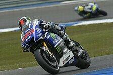 MotoGP - Vorsicht beim Umlegen: Lorenzo mit weiter Lederkombi schneller als Rossi