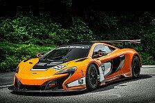 Mehr Sportwagen - G�nstiger, komfortabler, schneller: Rasante Pr�sentation des McLaren 650S GT3