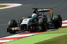 Formel 1 - Wind als Spielverderber: H�lkenberg und Perez klagen �ber schwierigen Tag