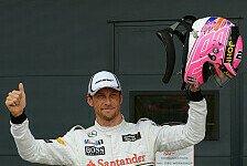 Formel 1 - Bester Brite beim Heimspiel: Button �bergl�cklich mit Startplatz drei