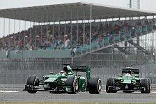 Formel 1 - Kobayashi haarscharf an R�ikk�nen vorbei: Gemischtes Deb�t f�r neue Caterham-Besitzer