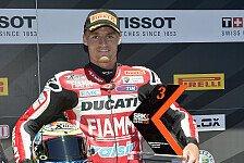 Superbike - Davies in Startreihe eins