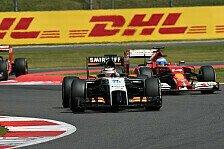 Formel 1 - Punkteserie fortgesetzt: H�lkenberg nach Platz acht entt�uscht