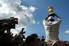 Formel 1 - Das Ding fiel auseinander!: Blog - Hamilton, der Pokal-Schreck