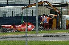 Formel 1 - Fragezeichen hinter Silverstone-Test: R�ikk�nen nach Crash: Bin unglaublich entt�uscht