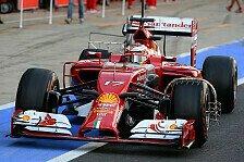 Formel 1 - Weltpremiere f�r 18-Zoll-R�der: Silverstone-Test, Tag 2: Bianchi im Ferrari vorn