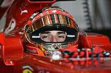 Formel 1 - Im Dauereinsatz: Bianchi von Ferrari beeindruckt