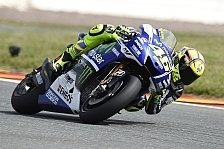 MotoGP - Kein Grip auf der h�rteren Reifenmischung: Rossi: �rger �ber mangelhaftes Setup