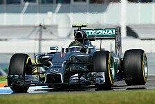 Formel 1 - Wie auf dem alten Hockenheimring: 1. Training: Rosberg holt Bestzeit