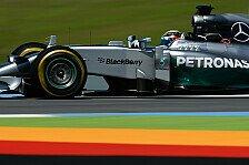 Formel 1 - Mercedes behauptet die Spitzenposition: 2. Training: Hamilton vor Rosberg