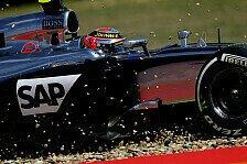 Formel 1 - Strecke �berraschend nass: Magnussen nach Highspeedcrash wohlauf