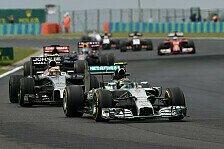 Formel 1 - Wenn es sein muss auch obendr�ber: Rosberg: Verlorenes Duell gegen Hamilton nervt