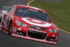NASCAR - Penske-Duo hauchd�nn geschlagen: Pole Position f�r Rookie Larson
