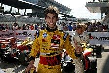 Formel 3 EM - Freue mich riesig: Antonio Giovinazzi jubelt �ber ersten Triumph