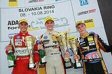 ADAC Formel Masters - Schiller: Der verdiente Lohn f�r die harte Arbeit: Slowakei: Schiller gewinnt Rennen 2