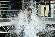 Formel 1 - Von Hamilton bis Dennis: Ice Bucket Challenge: Renn-Stars nass gemacht