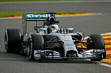 Formel 1 - Red Bull k�mpft: 2. Training: Hamilton-Bestzeit in Belgien