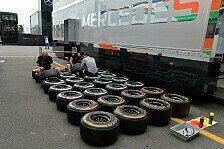 Formel 1 - Nicht zum Arbeiten zu bekommen: Fahrer st�hnen �ber Holzreifen