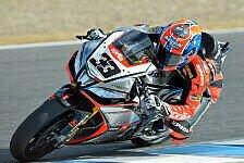 Superbike - Giugliano und Baz werfen das Podium in den Kies: Melandri siegt im ersten Jerez-Lauf
