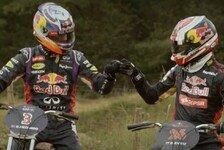 Formel 1 - Video: Ricciardo und Kvyat im Motocross Duell