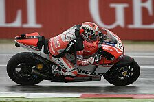 MotoGP - Trotz Sturz �berlegene Bestzeit: Ducati: Dovizioso mimt den Regengott