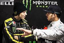 Tausch mit Lewis Hamilton: Valentino Rossi testet F1-Mercedes