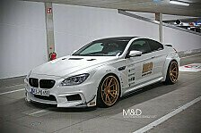 Auto - M&D exclusive cardesign veredelt M6: Goldzilla � BMW 650i wird zum M6-Breitbau-Monster