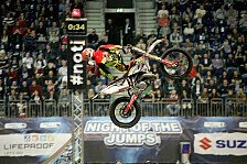 NIGHT of the JUMPs - Rinaldo zeigt Rock Solid Backflip: Doppelsieg von Melero in Berlin